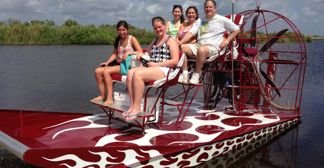 Family on the Airboat